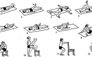 Упражнения при травме колена: комплекс тренировок