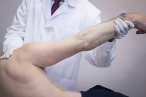 Вколоченный перелом плечевой кости: головки, хирургический шейки